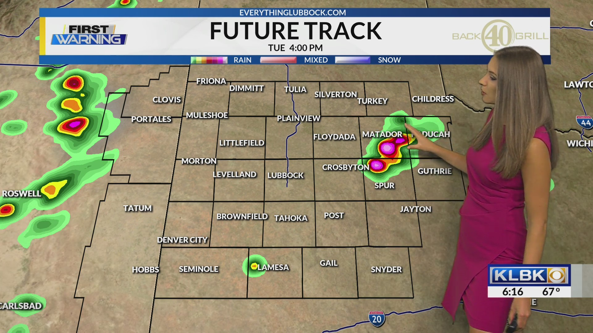 KLBK June 18th Morning Forecast