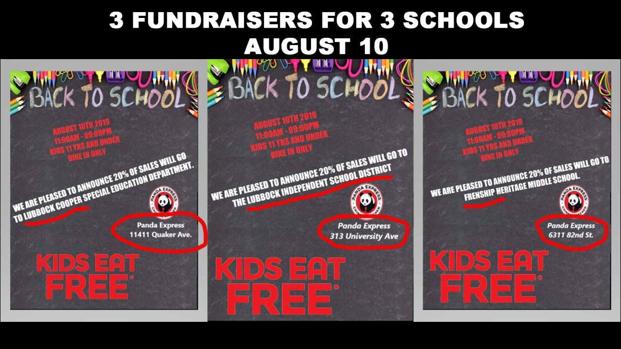 """Panda Express offers """"kids eat free"""" event and fundraiser"""