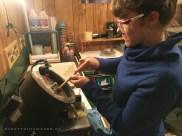 DIY Homemade Slanted Lapidary Grinding Wheel First Cut - NateBerends.com - 0119-53-171217
