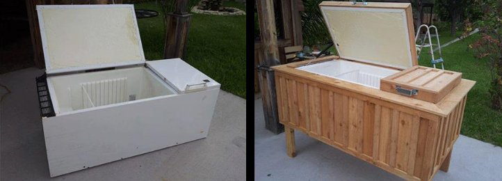 Ice Chest From Old Refrigerator