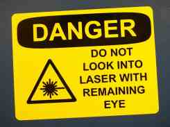 Laser Stickers-2 Remaining Eye Danger