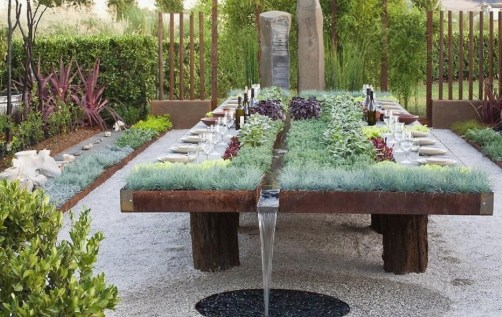 Outdoor Herb River Table