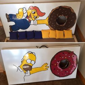Simpsons Donut Cornhole Boards