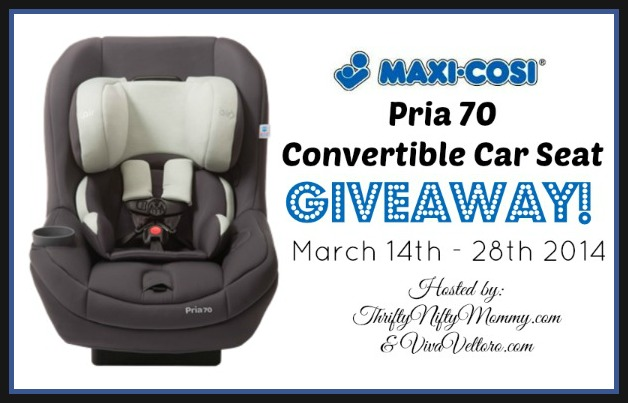 Car Seat Giveaway: Maxi-Cosi Pria 70 Convertible Car Seat Giveaway