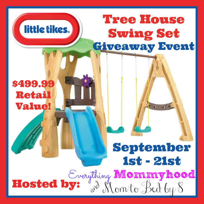 Little Tikes Swing Set Giveaway