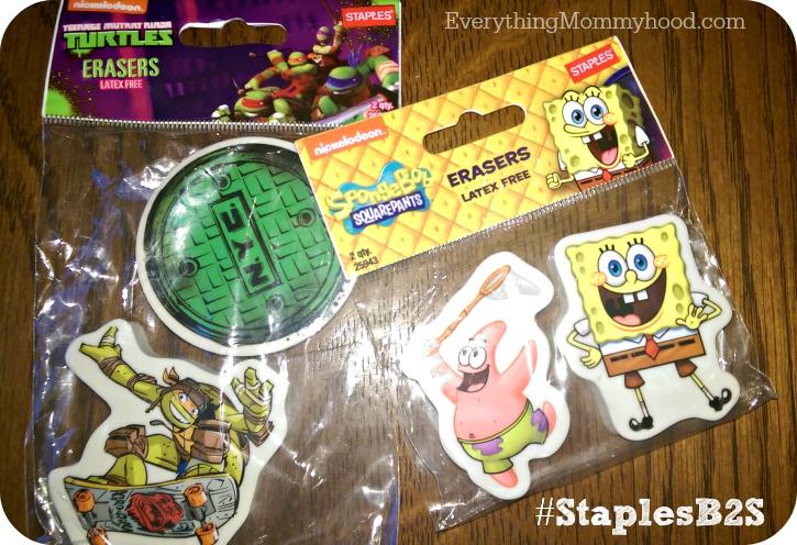 staples erasers