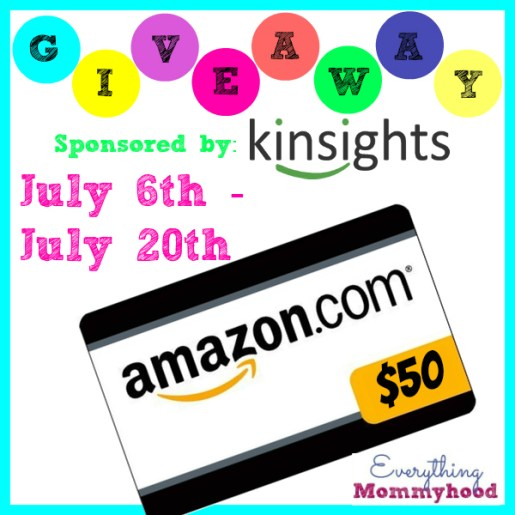 Kinsights $50 Amazon Gift Card Giveaway
