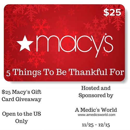 $25 Macy's Gift Card Giveaway
