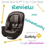 Safety 1st Grow and Go 3-in-1 Convertible Car Seat Review & Giveaway – ends 11/27