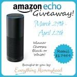 Amazon Echo Giveaway $179.99 Retail Value – ends 4/12 #AmazonEcho