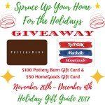 Spruce Up Your Home for the Holidays with Pottery Barn & HomeGoods $150 – ends 12/4