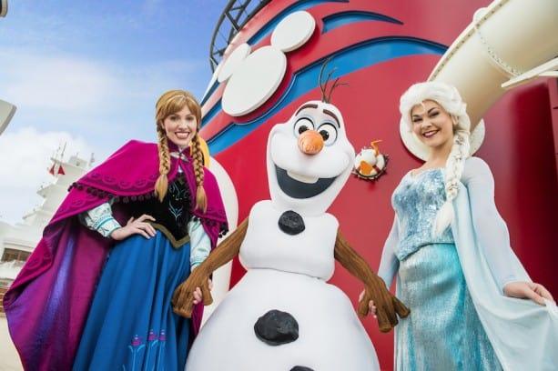 Disney Cruise Anna and Elsa