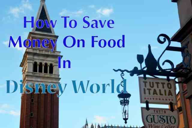 How to save money on food in disney world