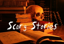 Piles of scary story books