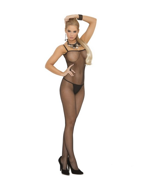 Strapped Open Crotch Bodystocking
