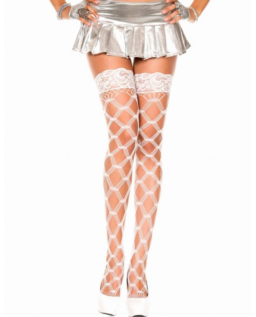 Thigh High Multiple Fence Fishnet