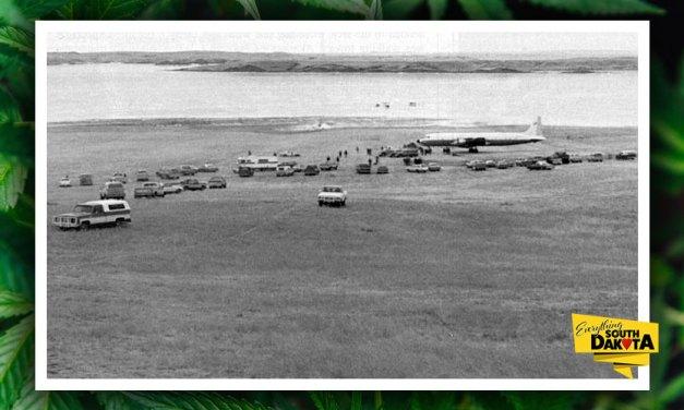 Pot plane landed in Akaska, SD Jan. 20, 1980