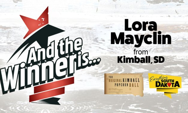 Lora Mayclin from Kimball, SD is our February Kimball Popcorn Ball Winner!