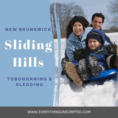 Winter in New Brunwsick, Family Activities in NB, Sliding Hills in New Brunswick