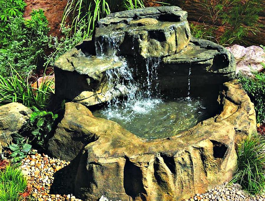 Backyard Pond Ideas Waterfall