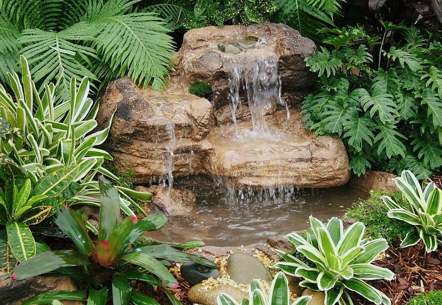 Small Garden Pond Waterfalls Rock Kits & Backyard Waterfalls on Rock Garden Waterfall Ideas id=88497