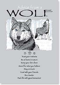 Advice From A Wolf Notecard
