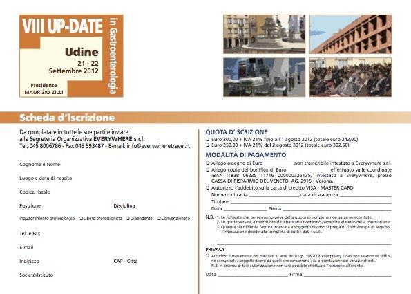 VIII° UP-DATE IN GASTROENTEROLOGIA