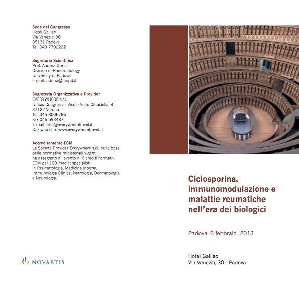 Ciclosporina,  immunomodulazione e  malattie reumatiche  nell'era dei biologici