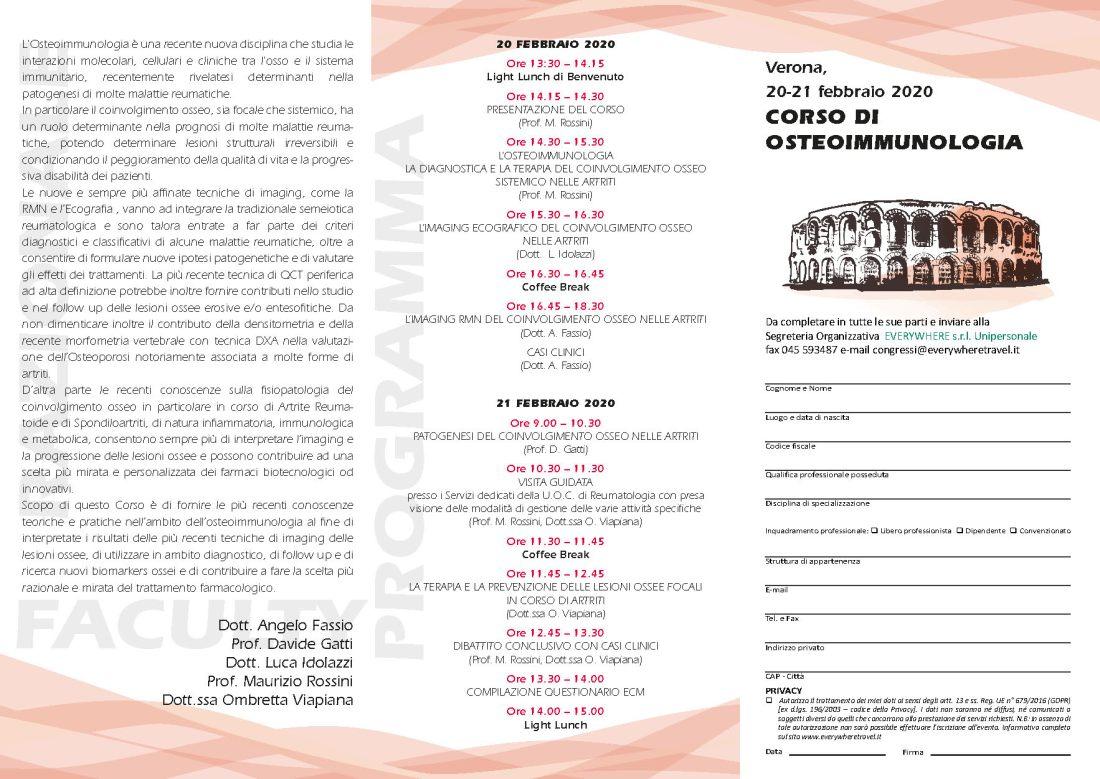 CORSO DI OSTEOIMMUNOLOGIA