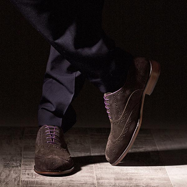 Brown Suede Italian Leather Brogue - Meteor 6
