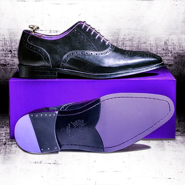 Black Italian Leather with Suede panels - Vanguard 2