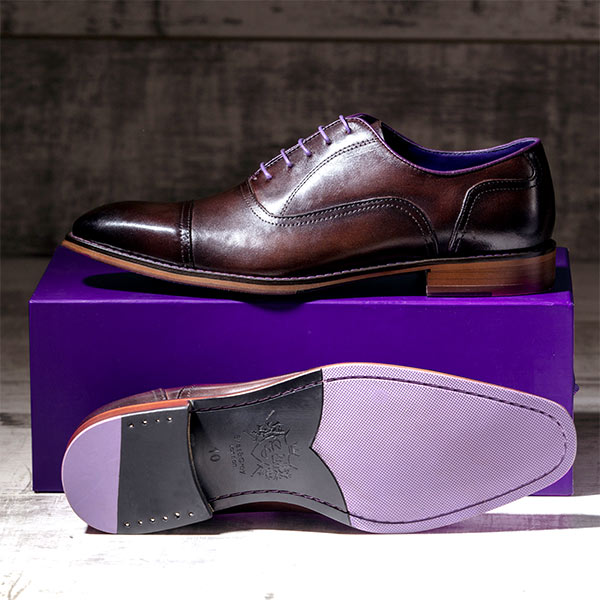 Dark Brown Italian Leather Oxford - Falcon 2