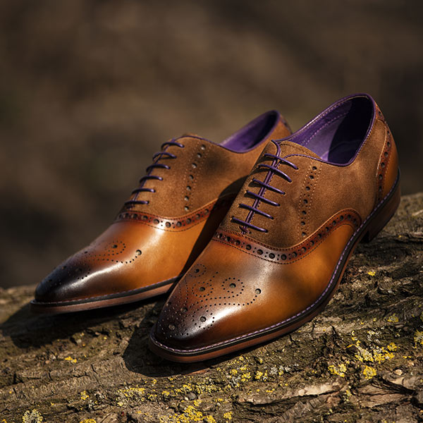 Burnished Tan Leather with Suede panels - Vanguard