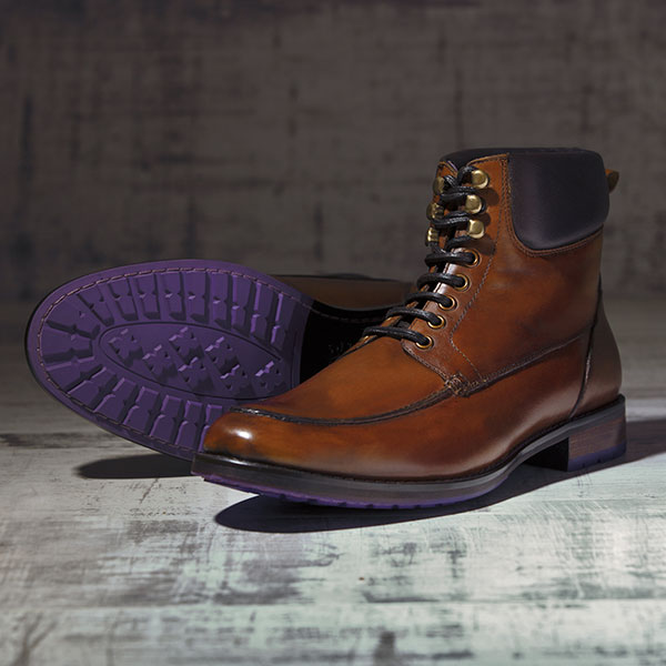 Dark Tan Italian leather Ankle Boot - Bison 2