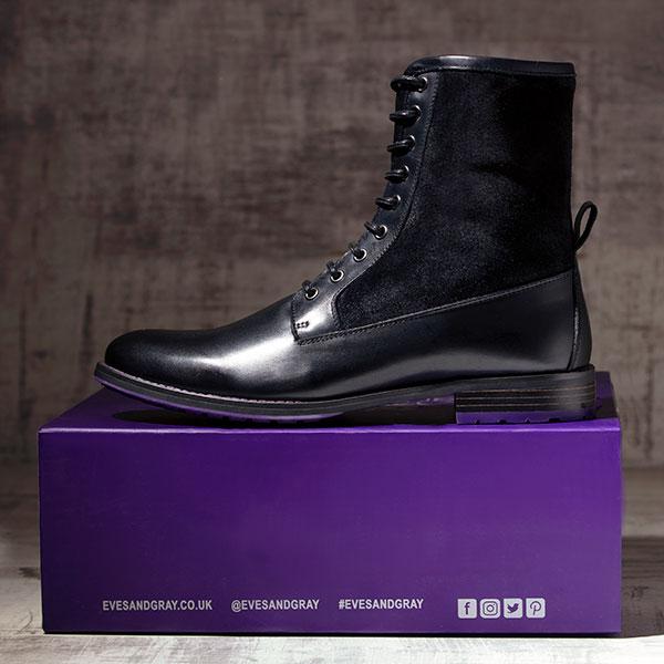 Black Italian Leather Ankle Boot - Maxamillion Black 2