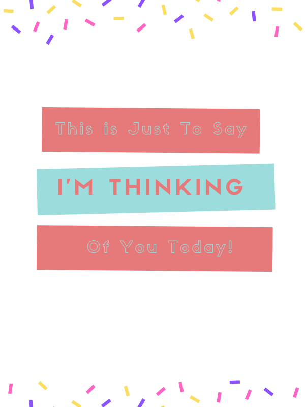 Thinking of you greeting card by Elle & Eve