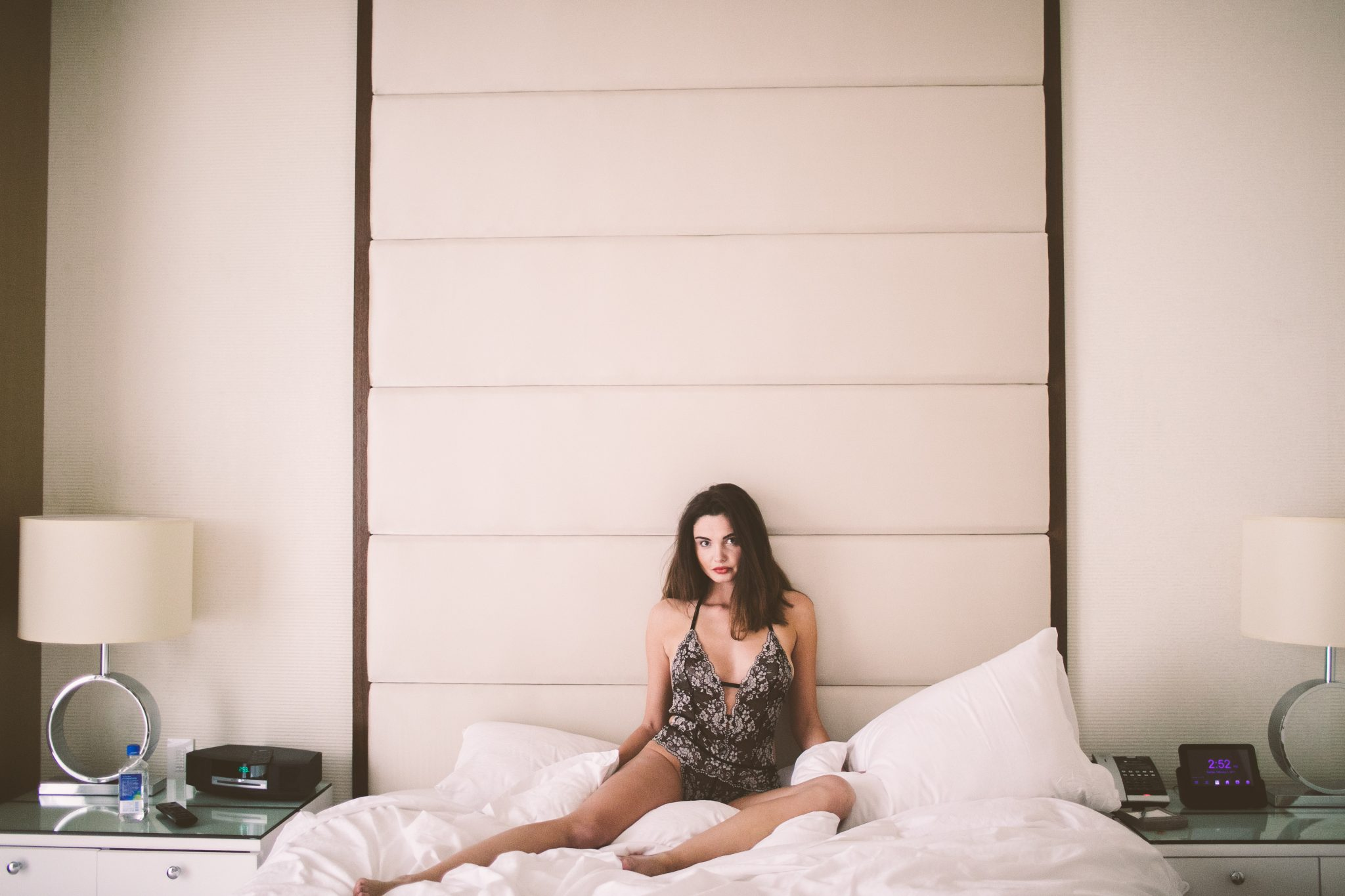 A woman wearing pretty lingerie