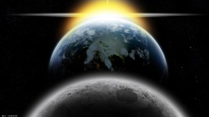 earth moon and sun came from God