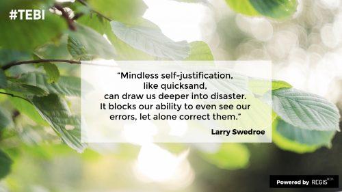Larry Swedroe on self-justification