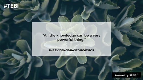 the new documentary by RegisMedia about evidence based investing ensures knowledge tranfer