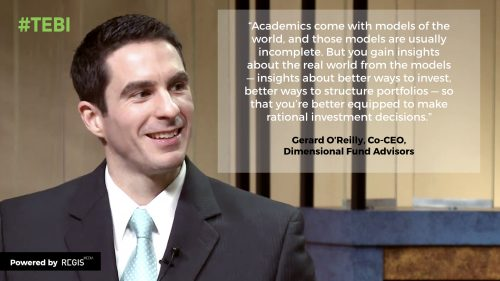 Gerard O'Reilly quote about financial education
