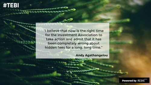 Andy Agathangelou quote about Investment Association and Chris Cummings