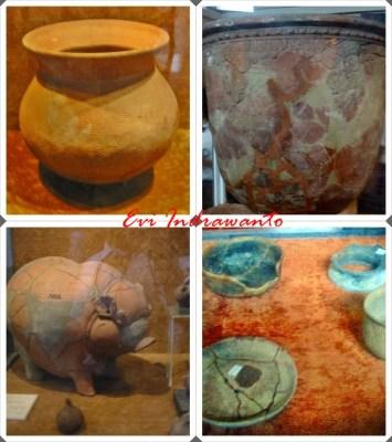 aneka keramik dalam museum sejarah jakarta