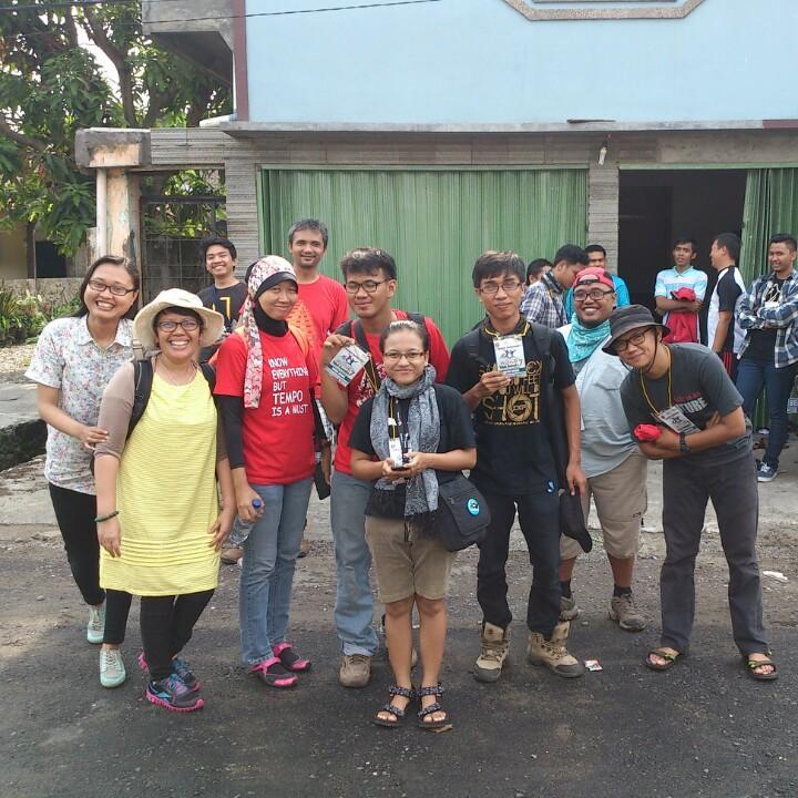 Hari pertama Tim Sosial Media Festival Teluk Semaka siap-siap mengikuti D'Semaka Tour