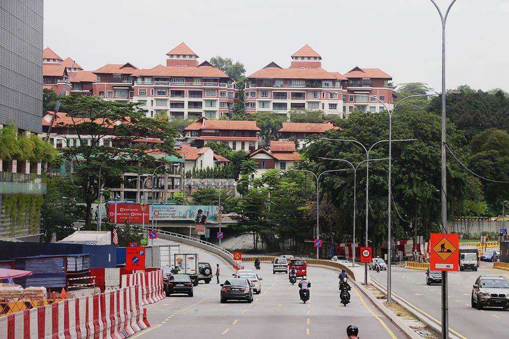Kuala Lumpur dari atas bus city tour