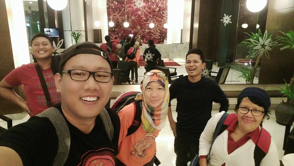 Blogger Palembang, Batam, Bogor, Tangerang dan Jakarta. Ketemuan pertama kali di Swiss Garden Hotel dan Residences