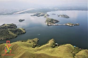 Danau Sentani - Sesaat Sebelum Mendarat di Jayapura