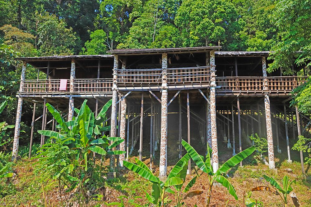 Rumah Adat Orang Hulu di Sarawak Cultural Village