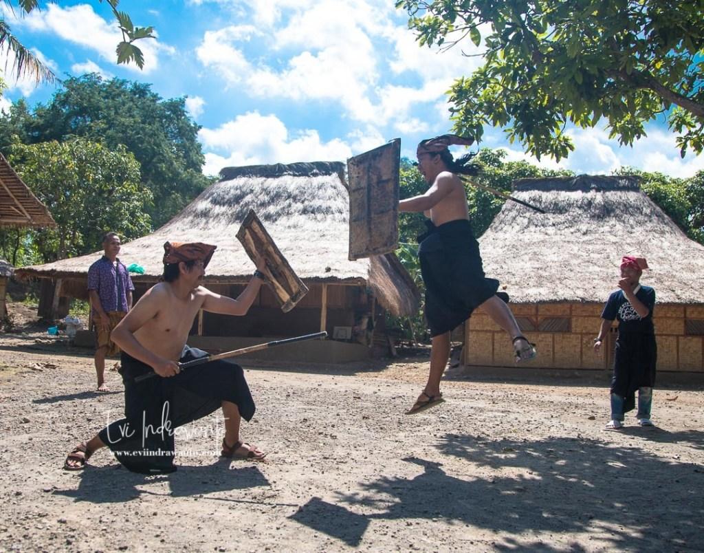 Tradisi peresean seni bela diri Lombok