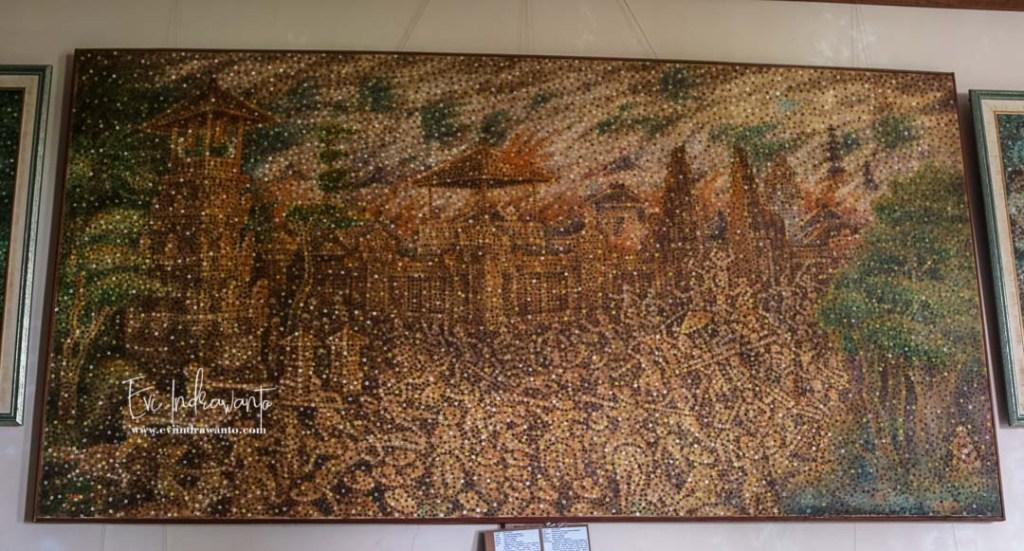 Lukisan Perang Puputan Menggunakan Ujung Jari